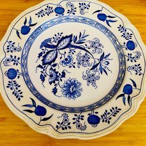 Loire Blue Nikko JAPAN plates *4